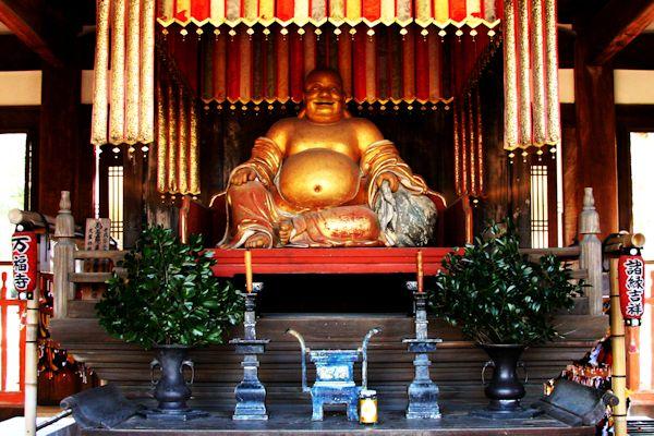 萬福寺 天王殿の布袋像
